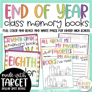 End of Year Memory Book End of Year Activity {Target Dolla