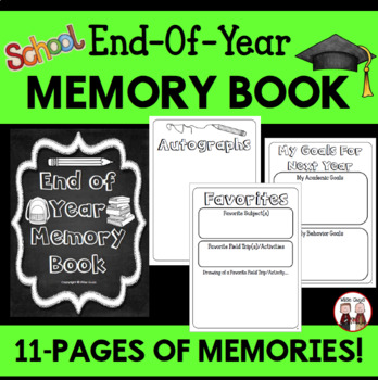 End of the Year Activities: Memory Book Grade 3, 4, 5