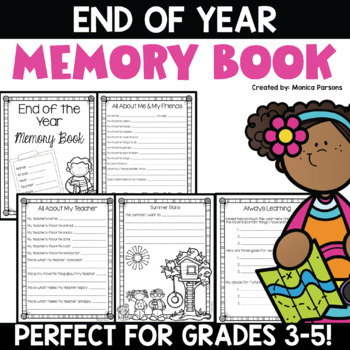 End of Year Memory Book - Grades 2 - 5