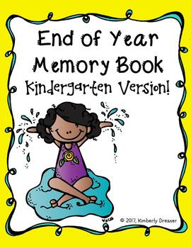 End of Year Memory Book {Kindergarten Edition}