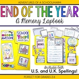 End of the Year Activity: Memory Lapbook
