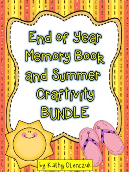 End of Year Memory Book and Summer Craftivity
