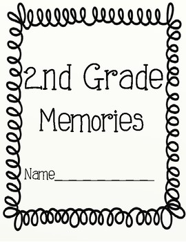 End of Year Memory Book for 2nd Grade