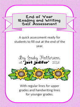 End of Year Reading and Writing Self Assessment