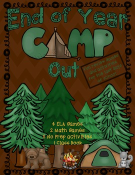 End of Year Review Games with Camping Theme