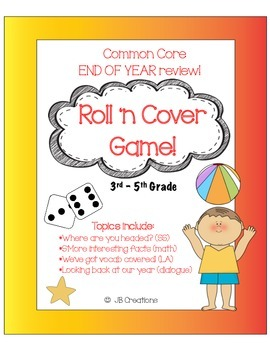 End of Year Roll 'n Cover Review Game on Common Core  (3rd