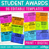 End of Year Student Award Templates {Editable}
