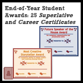 End-of-Year Student Awards: Superlatives and Future Career
