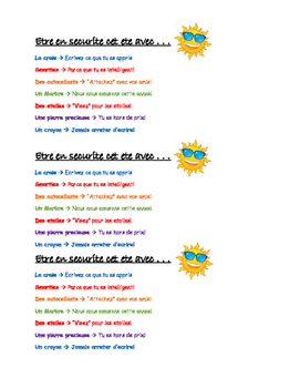End of Year Student Gift (En francais)