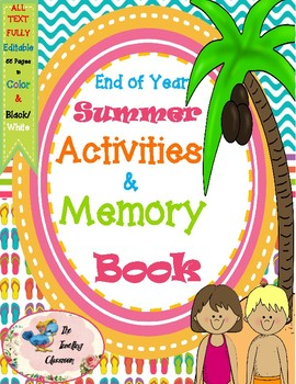 All About Me Activities and Memory Book