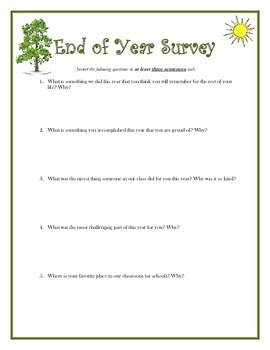 End of Year Survey