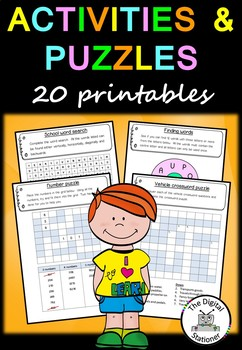 End of Year/Term Activities and Puzzles – 20 assorted puzzles