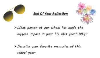 End of Year Writing Prompt
