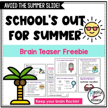 End of Year or Summer Activity Cards for free!