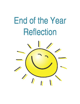 End of the School Year Reflection (Editable)