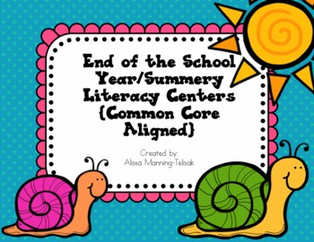May/June Literacy Centers {Common Core Aligned for 2nd and