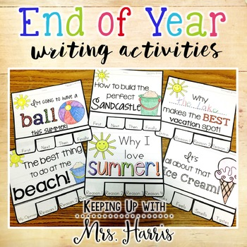 End of Year Activities:  Writing Prompt Booklets