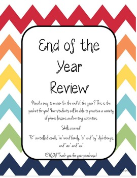 End of the Year 1st grade Phonics Review