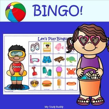 End of the Year Activities: Summer Bingo Game