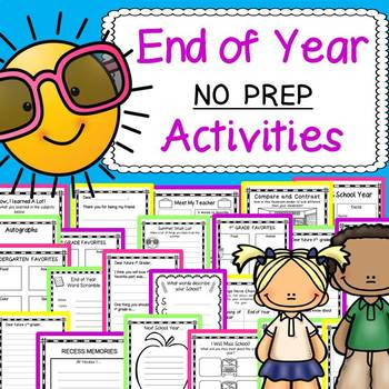End of the Year Activities: Grades K-3