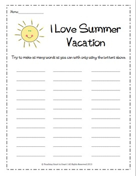 End of the Year Activities Packet With 10 Fun Activities