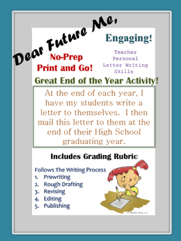 """End of the Year Activity! Personal Letter Writing Unit!  """""""