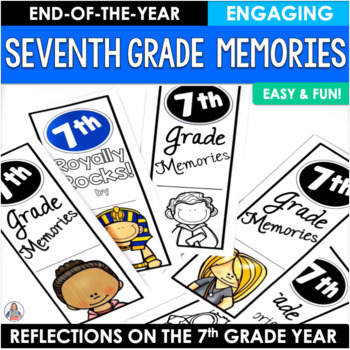 End of the Year Activity Seventh Grade Memories Brochure