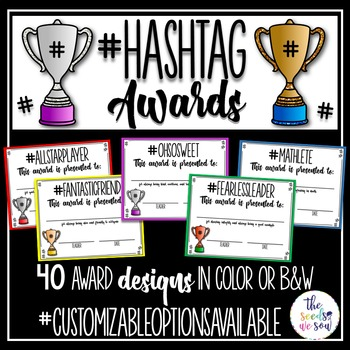 End-of-the-Year Hashtag Awards