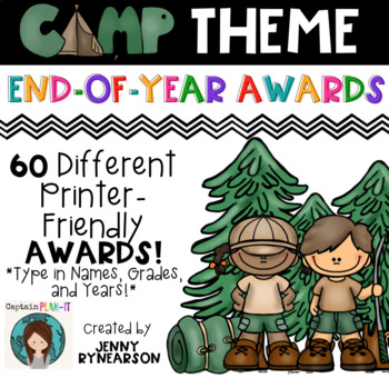 60 Printer-Friendly, Camping Theme End-of-the-Year Awards!