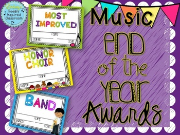 End of the Year Awards {For music teachers}
