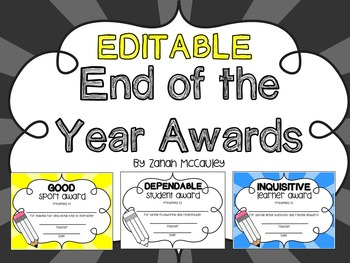 End of the Year Awards - Pencils