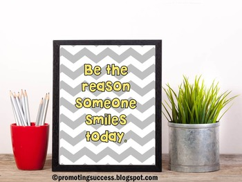 Be the Reason Someone Smiles Today Inspirational Quote Pos
