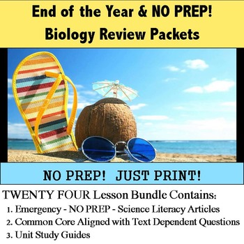 End of the Year - Biology Review Packets - NO PREP