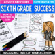 End of the Year Activity Sixth Grade Brochure