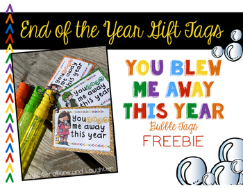 End of the Year Bubble Tag Freebie