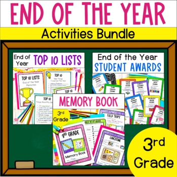 End of the Year Bundle- 3rd Grade- Memory Book, Awards and