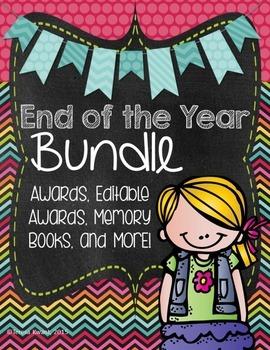 End of the Year Bundle! Awards, Editable Awards, Memory Bo