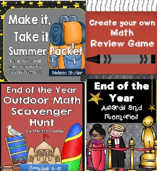 End of the Year Bundle- Four Great Must-Have Activities fo
