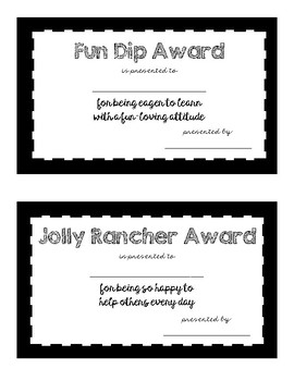 End of the Year Candy Awards