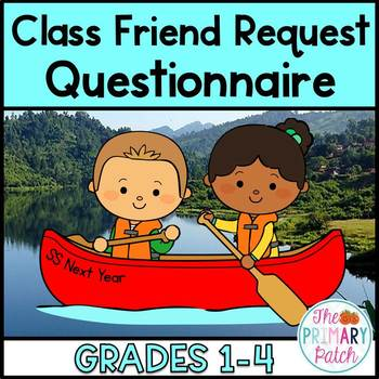 End of the Year FREEBIE: Class Friend Request Questionnair