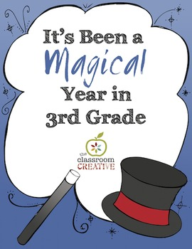 End of the Year Memory Book: 3rd Grade {Magic Theme}