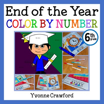 End of the Year Color by Number (sixth grade) Color by Dec