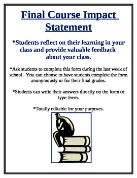End of the Year Course Impact Statement