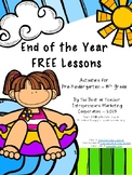 End of the Year Free Lessons By The Best of Teacher Entrep