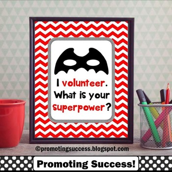 Volunteer Gift Ideas Superpower Quote Poster