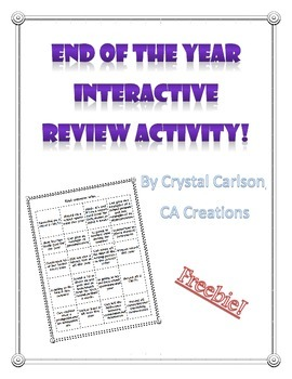 End of the Year Interactive Fun Review Activity {FREEBIE}
