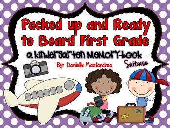 End of the Year Kindergarten Memory Book / Suitcase    {&