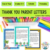 End of Year Letter to Parents