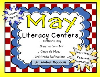 End of the Year Literacy Centers for May and June