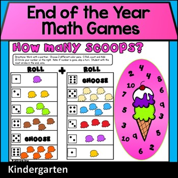 Math Games - Summer/End of the Year (Color and B&W)